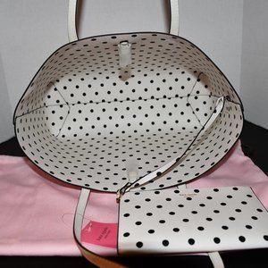 kate spade Bags - Kate Spade  Molly Cabana Dot Pop Large Tote & Zipp